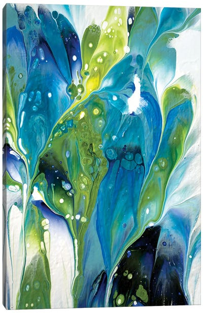 Green And Turquoise Floral II Canvas Art Print
