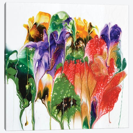 Summer Bouquet Canvas Print #ACK80} by Brigitte Ackland Canvas Wall Art