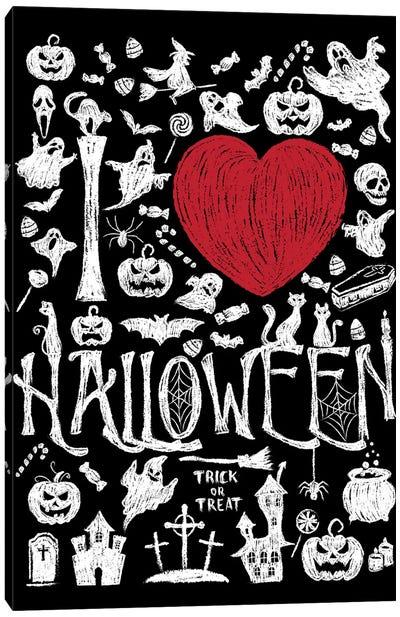 I Love Halloween Canvas Art Print