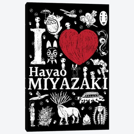 I Love Miyazaki Canvas Print #ACM112} by Antonio Camarena Canvas Art Print