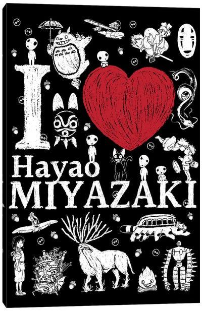 I Love Miyazaki Canvas Art Print