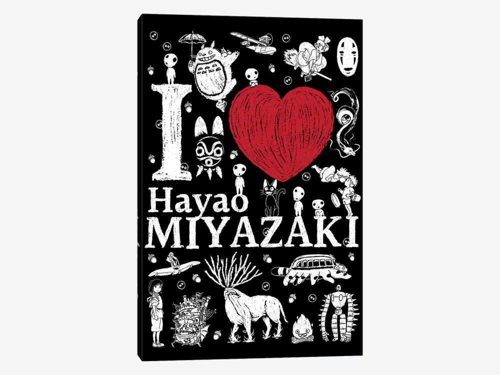 I Love Miyazaki by Antonio Camarena 1-piece Canvas Art
