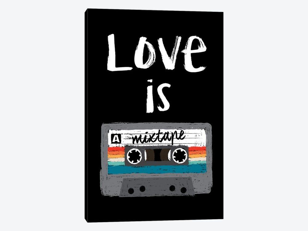 Love Is A Mixtape by Antonio Camarena 1-piece Canvas Art Print