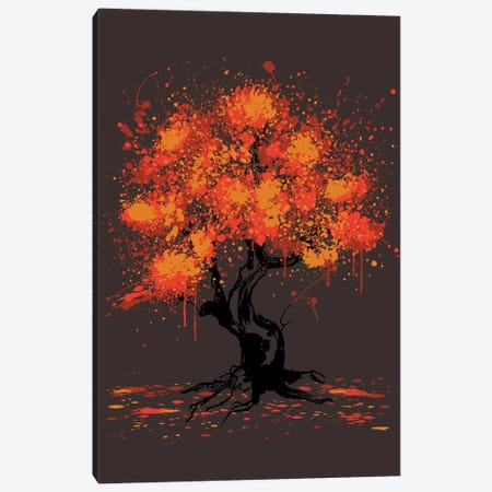 Autumn Tree Painting Canvas Print #ACM125} by Antonio Camarena Canvas Art Print