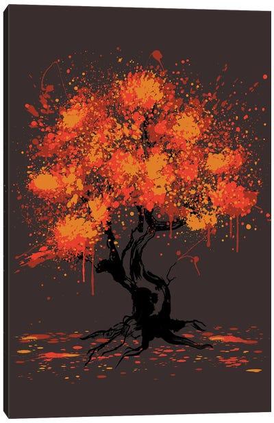 Autumn Tree Painting Canvas Art Print