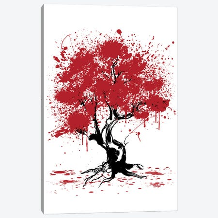 Sakura Tree Painting Canvas Print #ACM126} by Antonio Camarena Canvas Art Print