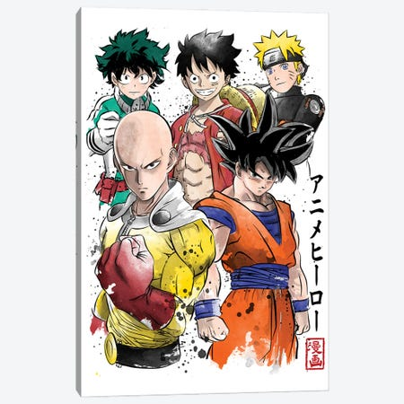 Anime Heroes Canvas Print #ACM128} by Antonio Camarena Canvas Art