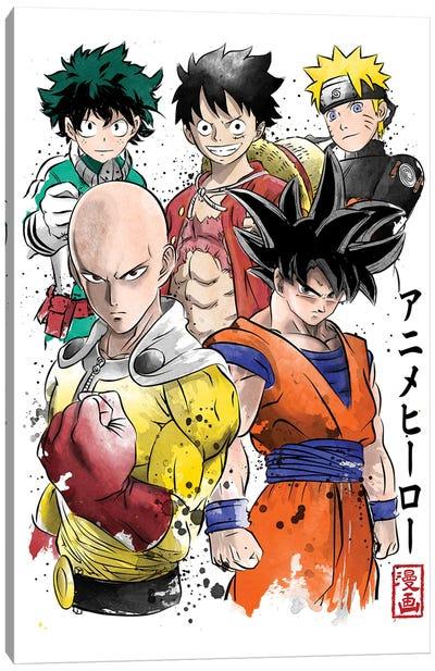 Anime Heroes Canvas Art Print