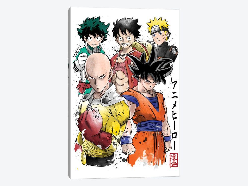 Anime Heroes by Antonio Camarena 1-piece Canvas Print
