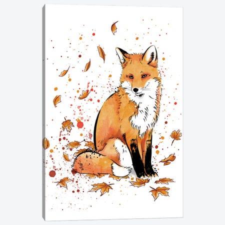 Fox In The Snow Canvas Print #ACM13} by Antonio Camarena Canvas Art Print