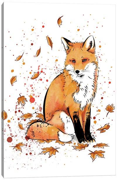 Fox In The Snow Canvas Art Print