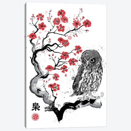 Fukuro Sumi-E Canvas Print #ACM14} by Antonio Camarena Canvas Wall Art