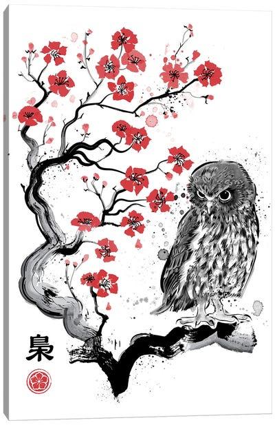 Fukuro Sumi-E Canvas Art Print