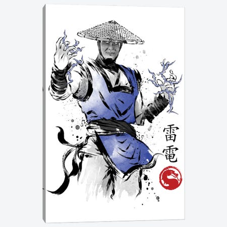 Thunder God Sumi-E Canvas Print #ACM151} by Antonio Camarena Canvas Art Print
