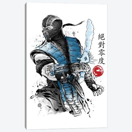 Ice Warrior Sumi-E Canvas Print #ACM154} by Antonio Camarena Canvas Artwork
