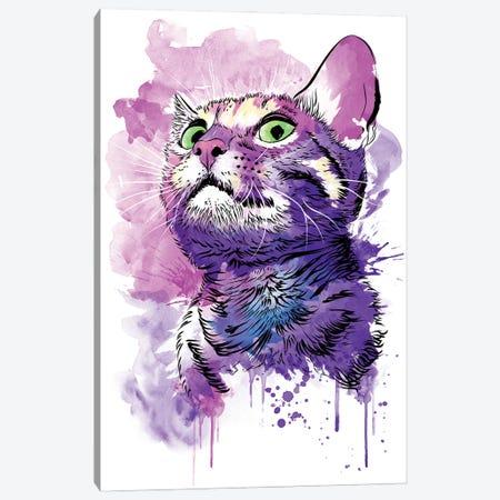 Cat Watercolor Canvas Print #ACM168} by Antonio Camarena Canvas Art