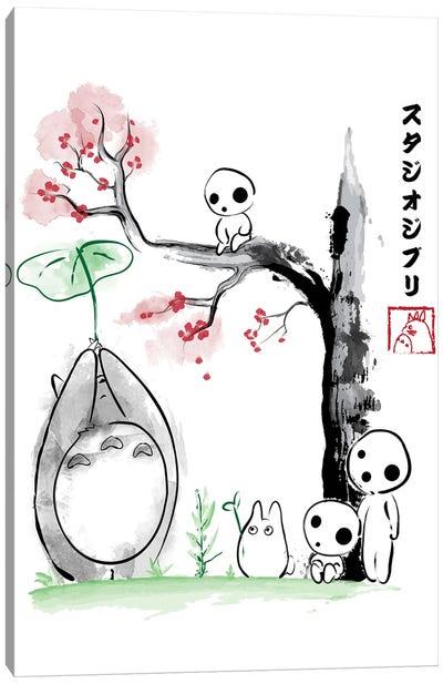 Growing Trees Sumi-E Canvas Art Print