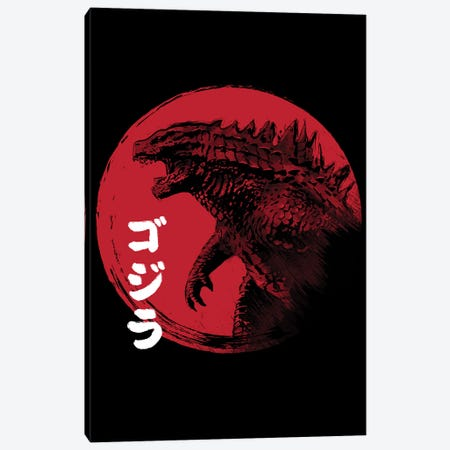 Red Sun Kaiju Canvas Print #ACM171} by Antonio Camarena Art Print