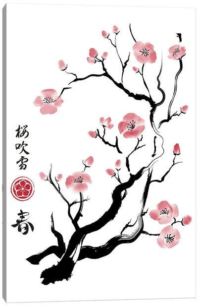 Spring Colors In Japan Canvas Art Print