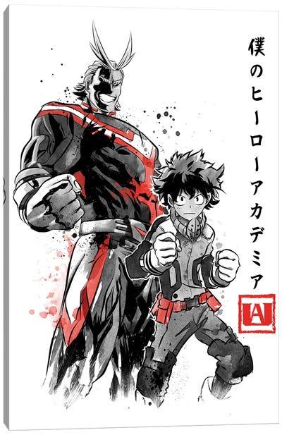 Hero Academia Sumi-E Canvas Art Print