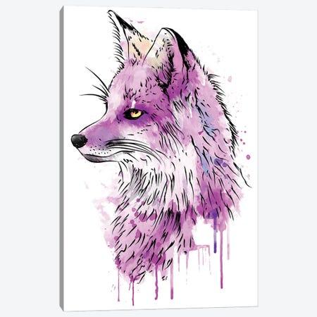 Fox Watercolor Canvas Print #ACM184} by Antonio Camarena Art Print