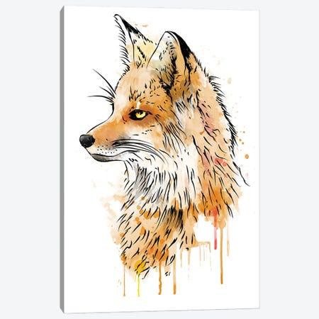 Fox Watercolor Color Canvas Print #ACM188} by Antonio Camarena Canvas Artwork