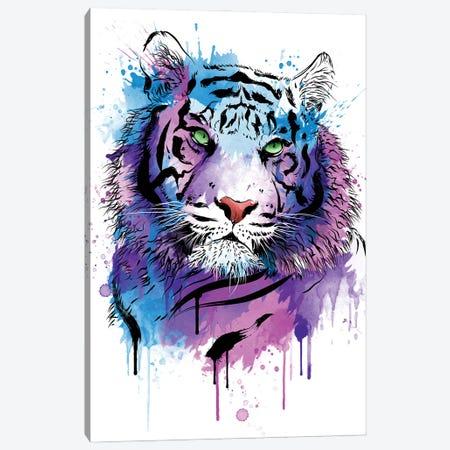 Tiger Watercolor Canvas Print #ACM189} by Antonio Camarena Canvas Art