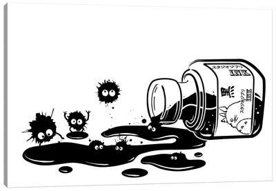 Ink Sprites Canvas Art Print