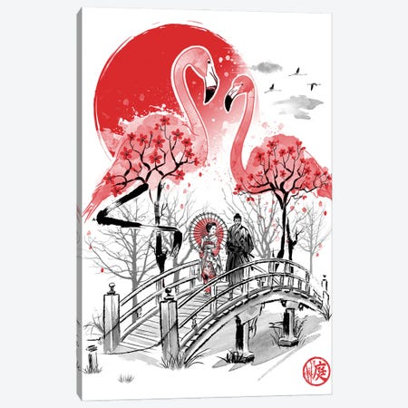 Flamingo Garden Canvas Print #ACM1} by Antonio Camarena Canvas Wall Art