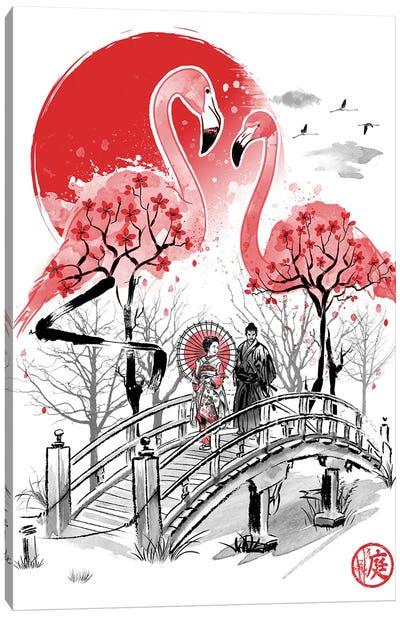 Flamingo Garden Canvas Art Print