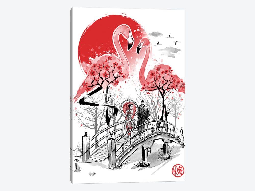 Flamingo Garden by Antonio Camarena 1-piece Canvas Art Print