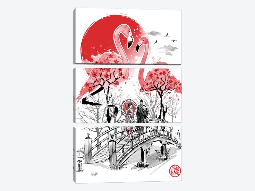 Flamingo Garden by Antonio Camarena 3-piece Canvas Art Print