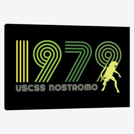USCSS Nostromo 1979 Canvas Print #ACM210} by Antonio Camarena Canvas Artwork