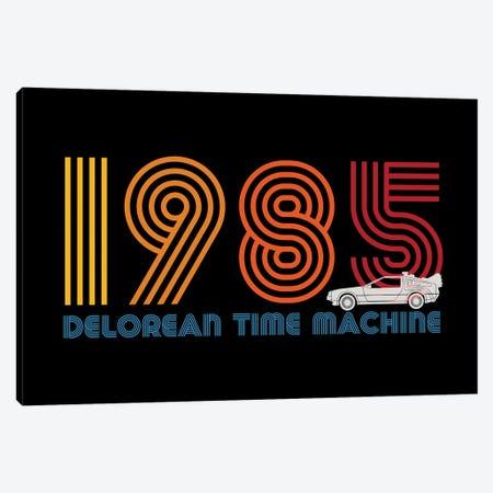 DeLorean Tim Machine 1985 Canvas Print #ACM214} by Antonio Camarena Canvas Print