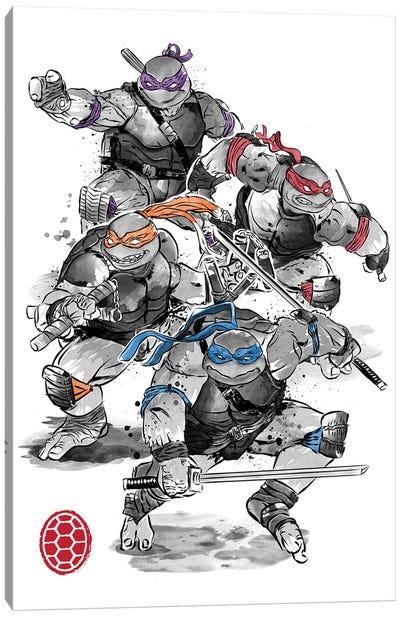 Ninja Turtles Sumi-E Canvas Art Print