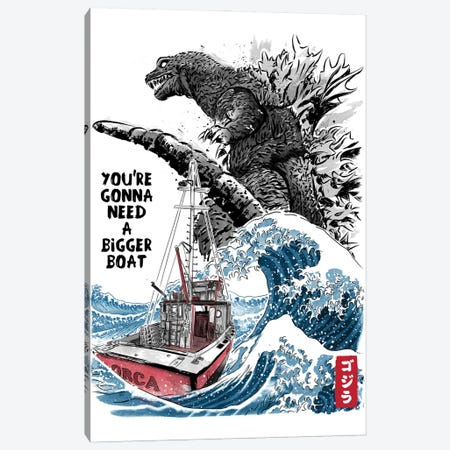 Orca In Japan Canvas Print #ACM30} by Antonio Camarena Art Print