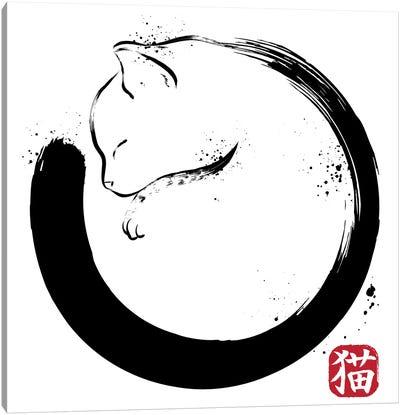 Purrfect Circle Canvas Art Print
