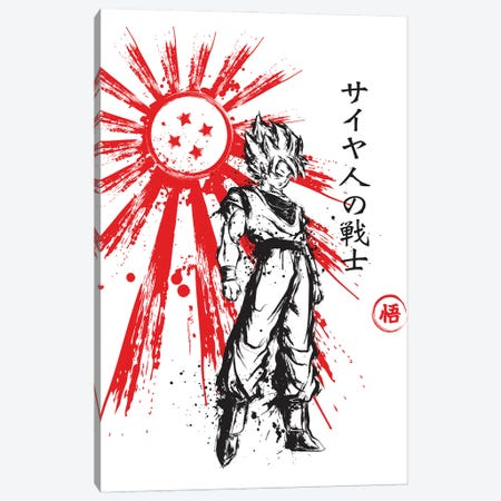 Saiyan Warrior Canvas Print #ACM36} by Antonio Camarena Canvas Wall Art
