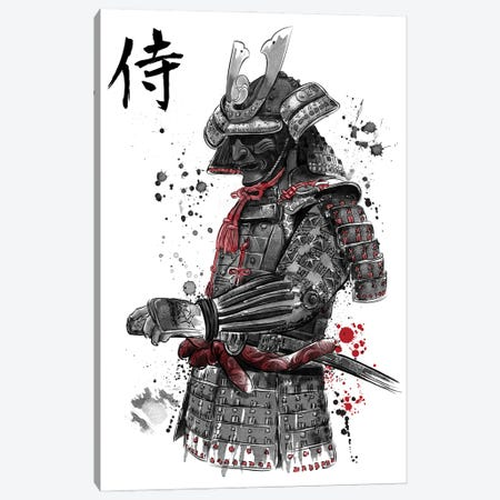 Samurai Sumi-E Canvas Print #ACM37} by Antonio Camarena Canvas Wall Art