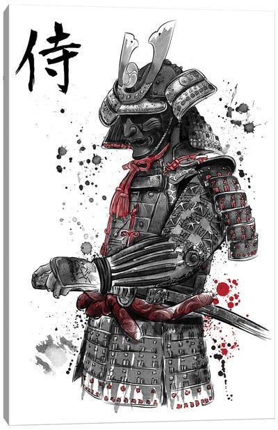 Samurai Sumi-E Canvas Art Print