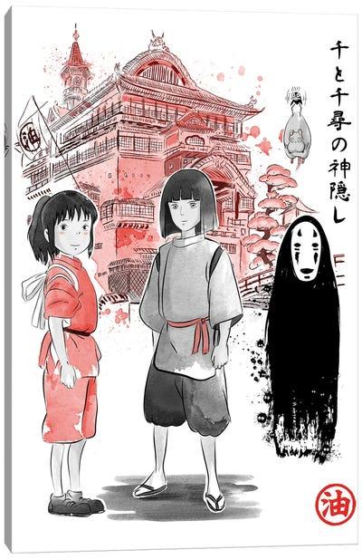 Spiried Sumi-E Canvas Art Print