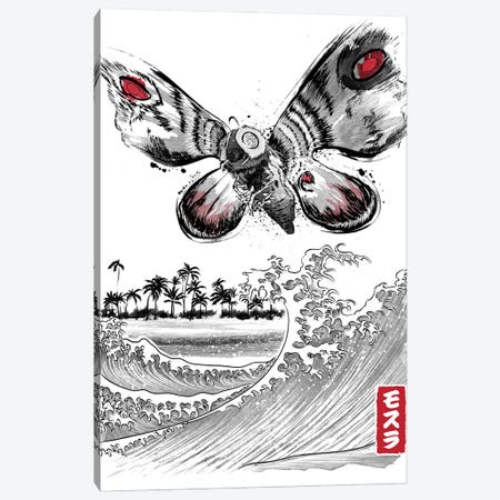 The Rise Of The Giant Moth Canvas Print #ACM42} by Antonio Camarena Canvas Wall Art