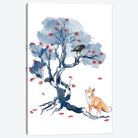 The Fox And The Crow Canvas Print #ACM45} by Antonio Camarena Canvas Print