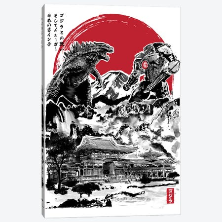 Attack On Japanese Temple Canvas Print #ACM4} by Antonio Camarena Art Print
