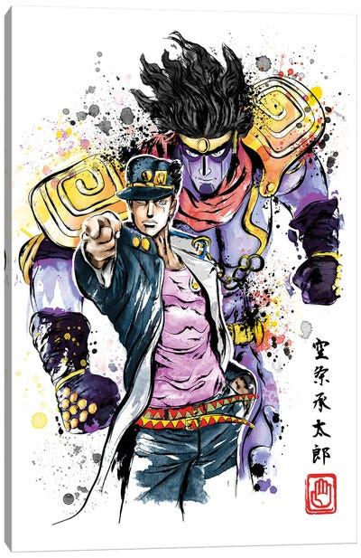 Bizarre Adventure Watercolor Canvas Art Print