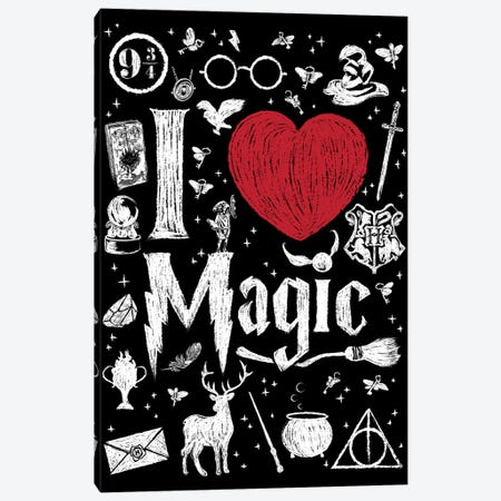 I Love Magic Canvas Print #ACM53} by Antonio Camarena Art Print