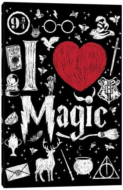 I Love Magic Canvas Art Print