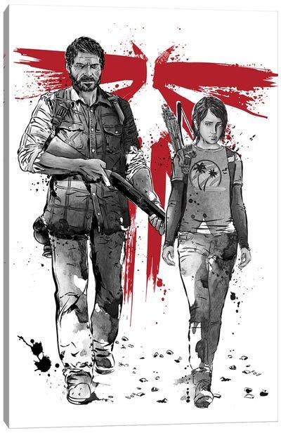 Lone Survivor And Cub Canvas Art Print