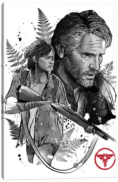 Joel And Ellie Canvas Art Print