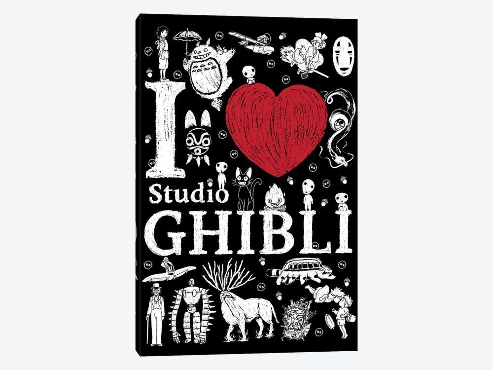 I Love Ghibli by Antonio Camarena 1-piece Canvas Print